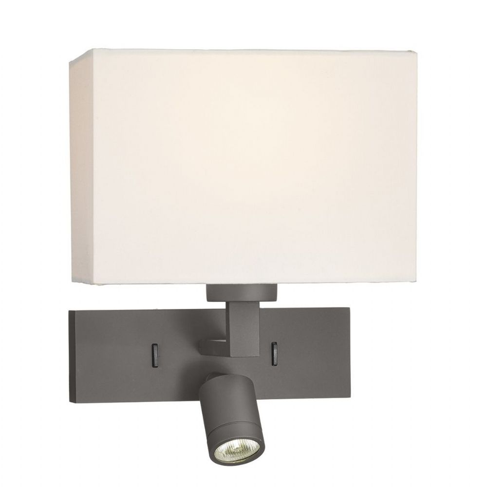 1 Light Rectangle Wall Bracket With Led Bronze Base Only  (Class 2 Double Insulated) BXMOD7163L-17